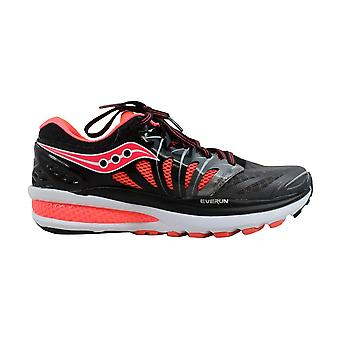 Saucony Hurricane Iso 2 Black/Charcoal-Coriander  Women's S10293-2 Size 6.5 Medium