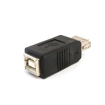 USB 2.0 A Female Socket to B Female Socket Adapter Printer Cable Extender