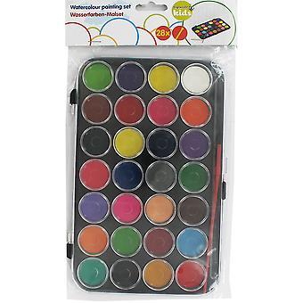 Water colors + Brush (28 Colors)