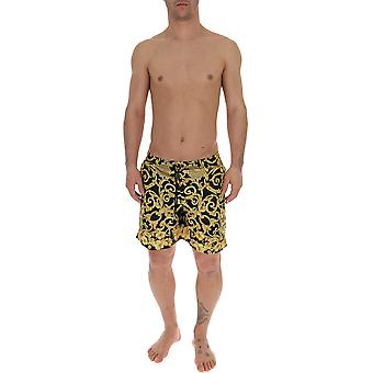 Versace Black/gold Nylon Trunks