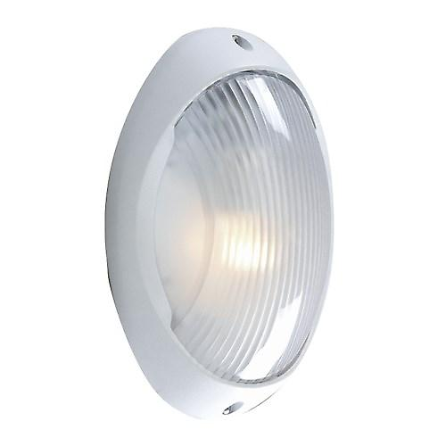 Searchlight 3152WH Modern Outdoor White Aluminium Bulkhead Flush Light Ip44