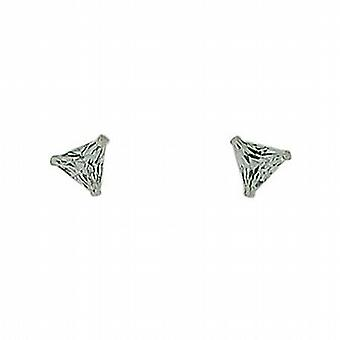 The Olivia Collection Sterling Silver 5mm Triangular Stud Earrings