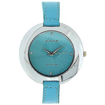 Zaza London Sky Blue Sunray Dial Dome Shaped Ladies Analogue Watch LLB858