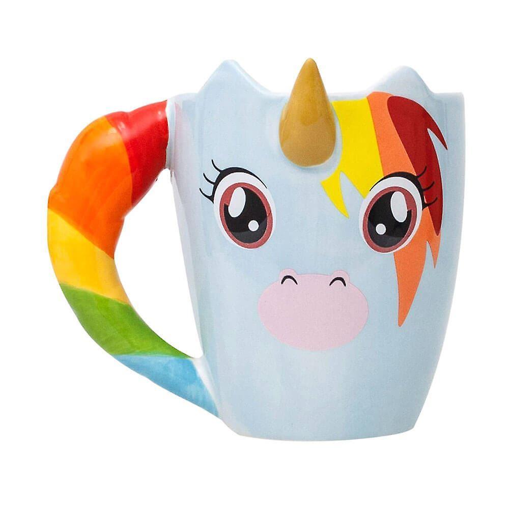 Unicorn Mug Shaped Coffee Ceramic 9HYWED2I