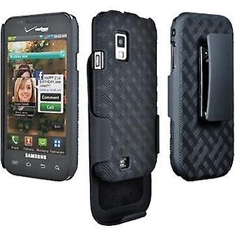 Verizon Rubberized Shell Holster Combo for Samsung Fascinate SCH-i500 (Black) (B
