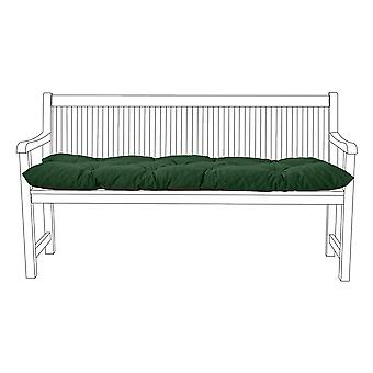 Gardenista® Water Resistant Green Tufted 2 Seater Bench Kissen