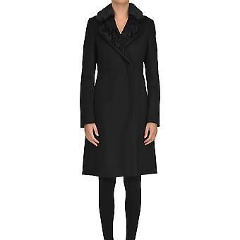 Moncler Black Wool Coat