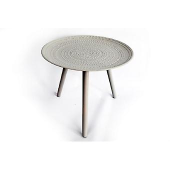 Wooden Grey Table Round 49x41cm Stylish strong