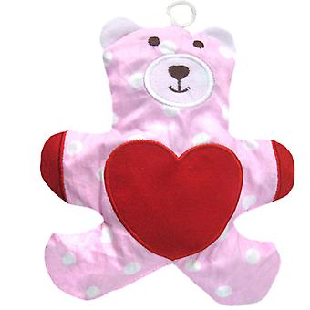 Childrens Heatable Cotton Cherry Pit Pillow: Teddy Bear