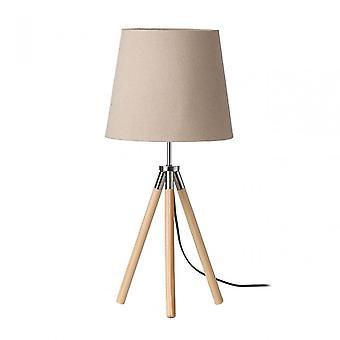 Premier Home Stockholm Table Lamp - EU Plug, Wood, Natural