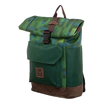 Minecraft Backpack Bag Explorer Logo Premium Rolltop new Official Green