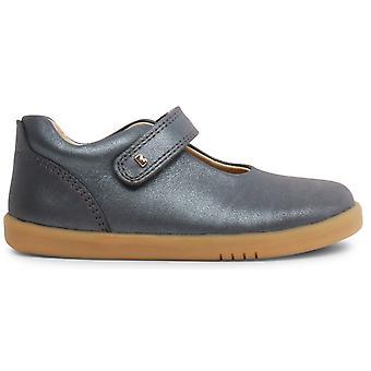 Bobux I-walk Girls Delight Shoes Charcoal Shimmer
