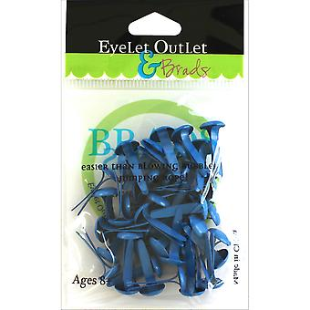 Eyelet Outlet Round Brads 8mm 40/Pkg-Dark Blue BRD8MM-710C