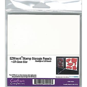 Crafter's Companion Ezmount Cd Case Storage Panels 10 Pkg 4.75
