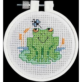 Soggy Froggy Mini Counted Cross Stitch Kit 3