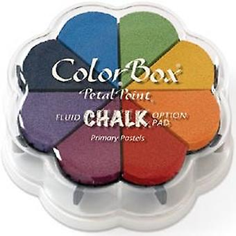 Colorbox Fluid Chalk Petal Point Option Inkpad 8 Colors Primary Pastels 715 30