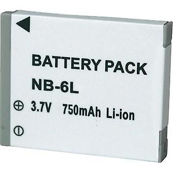 Camera battery Conrad energy replaces original battery NB-6L 3.7 V