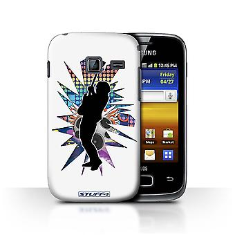 STUFF4 Case/Cover for Samsung Galaxy Y Duos/S6102/Hendrix White/Rock Star Pose