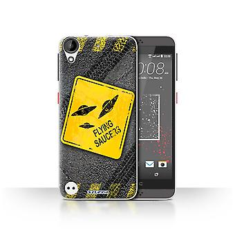 STUFF4 Case/Cover for HTC Desire 630/UFO/Flying Saucers/Funny Road Signs