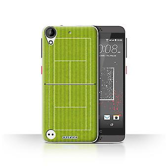 STUFF4 Case/Cover for HTC Desire 630/Green Grass Court/Tennis Courts