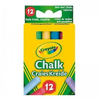 Crayola 12 Coloured Chalks (Kids , School Supplies , Writting And Coloring , To Colour)