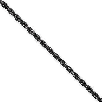 Edelstahl Ip schwarz beschichtet 2,3 mm Seil-Kette - Länge: 18 bis 30