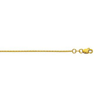 10k Yellow Gold 1.0 mm Box Chain Necklace - Length: 16 to 30