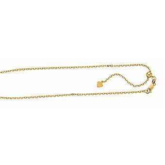 Sterling Silber Gold blitzte Finish 1,5 mm einstellbar Kabel Sparkle-Cut Kette Hummer Spange Fußkettchen