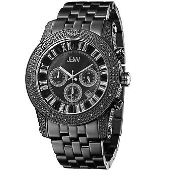 JBW diamond men's stainless steel watch KRYPTON - black