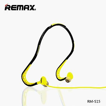 Remax RM-S15 sport stereo Earhook headset 3.5 mm yellow
