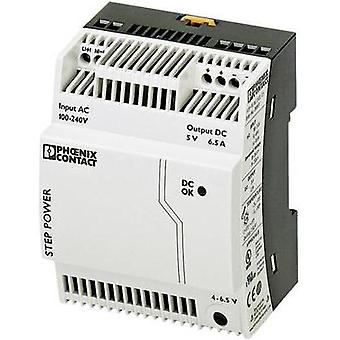 Rail mounted PSU (DIN) Phoenix Contact STEP-PS/1AC/5DC/6.5 5 Vdc 6.5 A 32.5 W 1 x