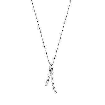 ESPRIT women's chain necklace silver cubic zirconia brilliance lines ESNL92328A420