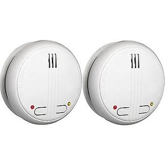 Wireless smoke detector 2-piece set network-compatible Flamingo 10.001.00 battery-powered