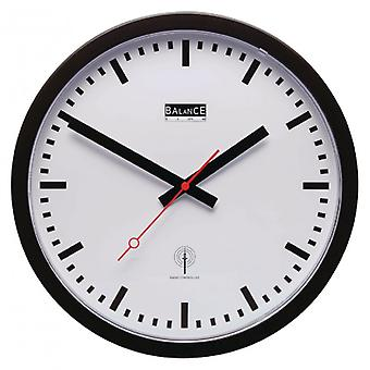 Balance the Radio-Controlled Wall Clock 30 cm Analogue White/Black