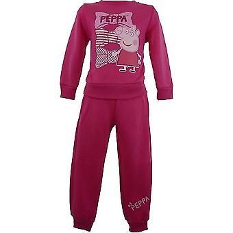 Chicas Peppa Pig SuitTracksuit NH6008 de Jogging. I06