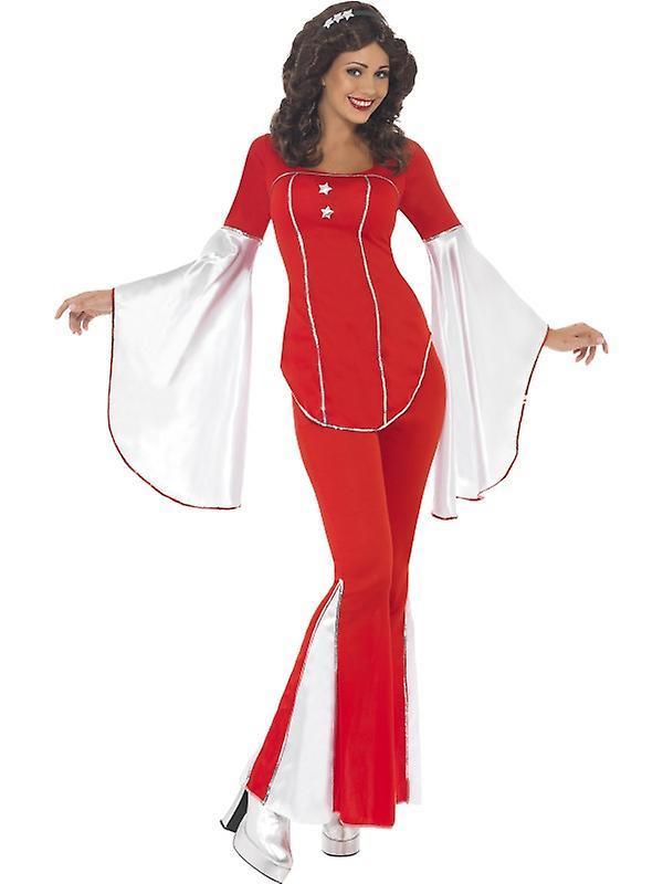 70's disco costume Super Trooper women 3-piece set