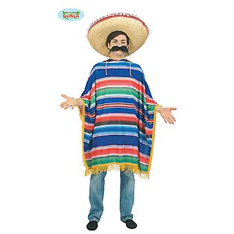 Huge poncho Mexicano Chicano men's costume one size