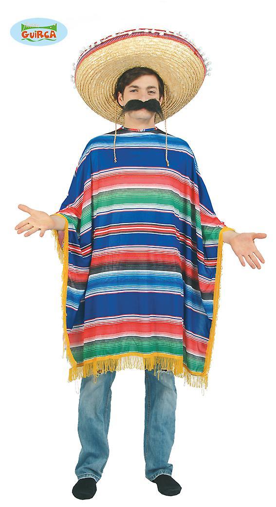 Huge poncho Mexicano Chicano men's costume one size