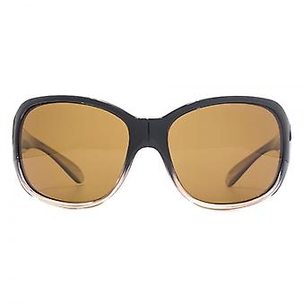 Freedom Polarised Mekong Wrap Sunglasses In Black Crystal Light Brown