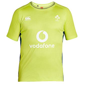 2017-2018 Ireland Rugby Superlight Poly Training Tee (Lime Punch) - Kids
