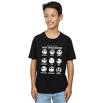 Disney Boys Nightmare Before Christmas The Many Faces Of Jack T-Shirt