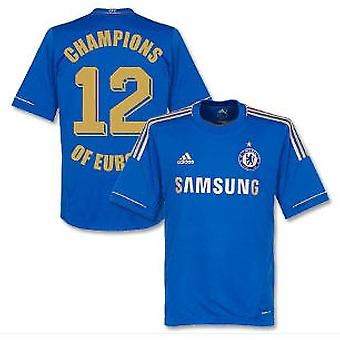 2012-13 Chelsea Home Shirt Champions of Europe 12