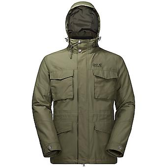 Jack Wolfskin Mens Port Hardy 3 in 1 Jacket Woodland Green (Large)