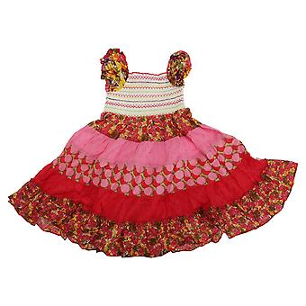 Childrens Girls Bohemian Floral Summer Flare Dress