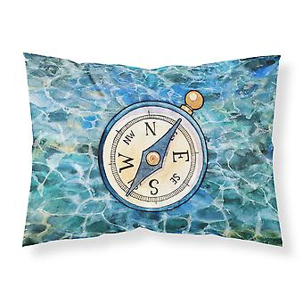 Carolines Treasures  BB5347PILLOWCASE Compass Fabric Standard Pillowcase