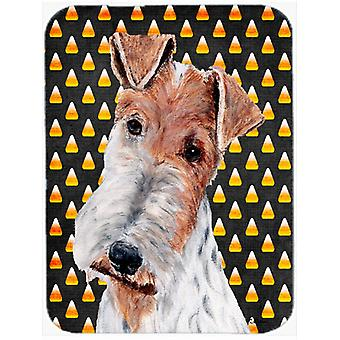 Wire Fox Terrier Candy Corn Halloween Mouse Pad, Hot Pad or Trivet