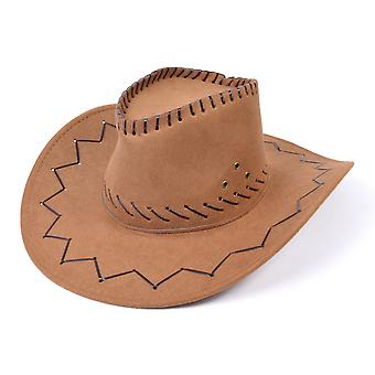 Cowboy Hat. Læder syet Brown