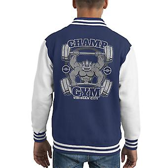Machamp Champ Varsity Jacket palestra Pokemon capretto