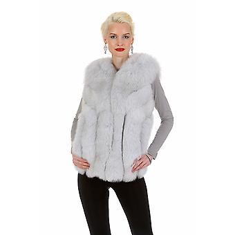 Natural Blue Fox Fur Vest for Women - Soft Directions