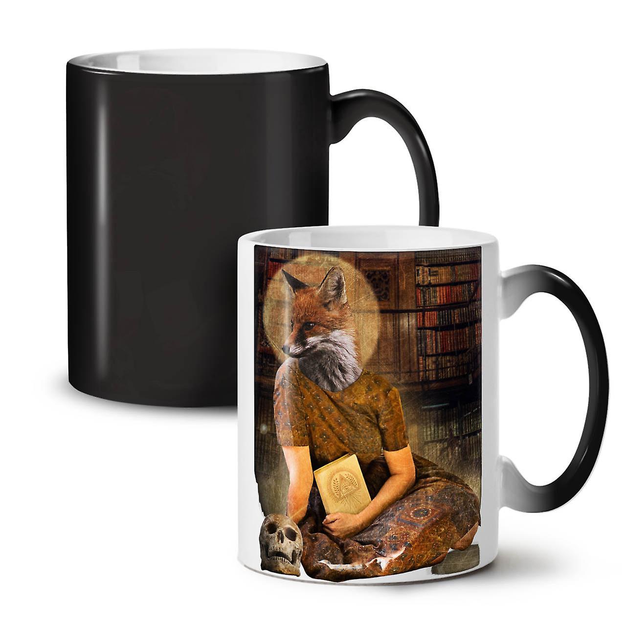 Céramique Couleur Beast Saint Noir Changeant OzWellcoda 11 Thé Art Café Fox Tasse Nouveau De IDHEY29W
